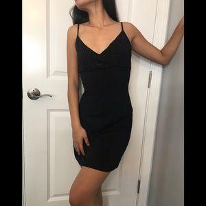 Black Vintage Bebe Flattering Dress